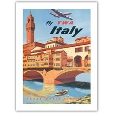 Fly TWA Florence Bridge Print 12 x 18