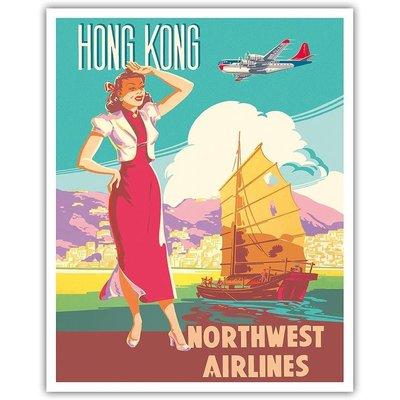 Northwest Orient Chinese Junk Hong Kong Print 12 x 18