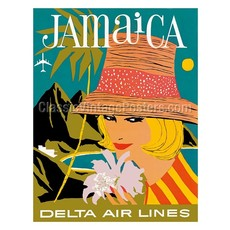 Delta Air Lines Jamaica Print 9 x 12