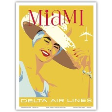 Delta Air Lines Miami, Florida Print 9 x 12