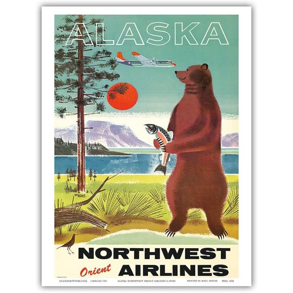 Alaska Northwest Orient Airlines Print 9 x 12