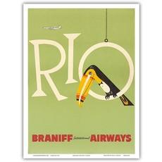 Braniff Air Rio Print 9 x 12