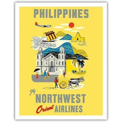 Northwest Orient Philippines Print 9 x 12