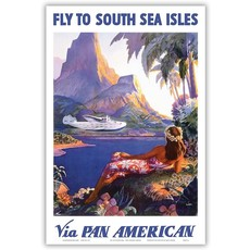 Pan Am Fly to the South Seas Isles Print 12 x 18