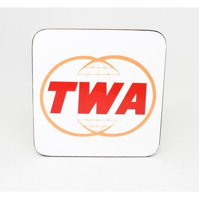 TWA Twin Globe Logo Coaster
