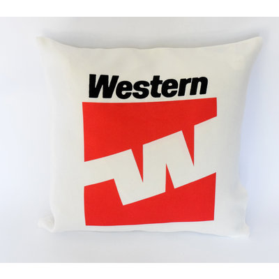 Western Airlines Last Logo Linen Pillow Cover