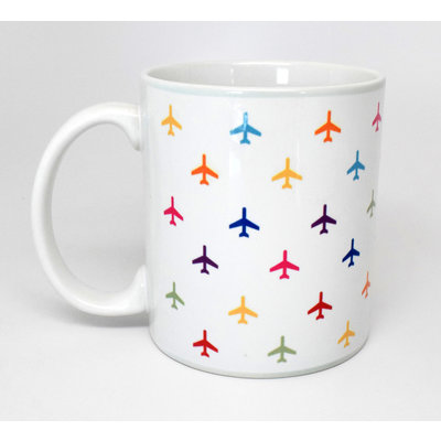 Airplane Pattern Coffee Mug