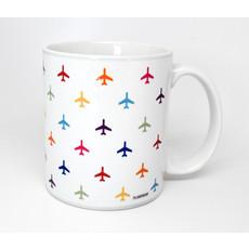 Airplane Pattern Coffee Mug