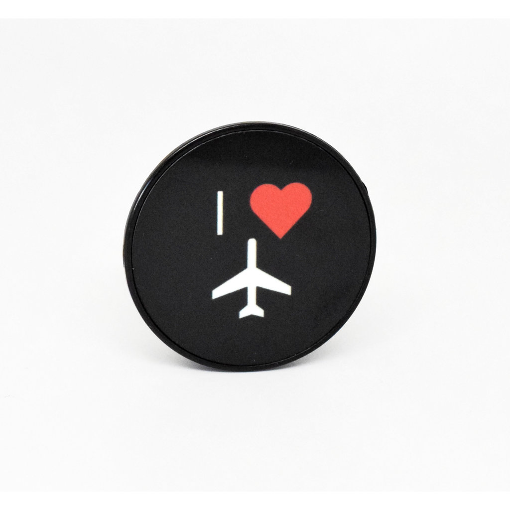 I Heart Flying Phone Grip-Black