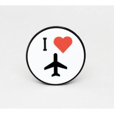 I Heart Flying Phone Grip-White