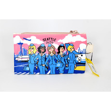 Seattle Jet Crew Pouch-Small