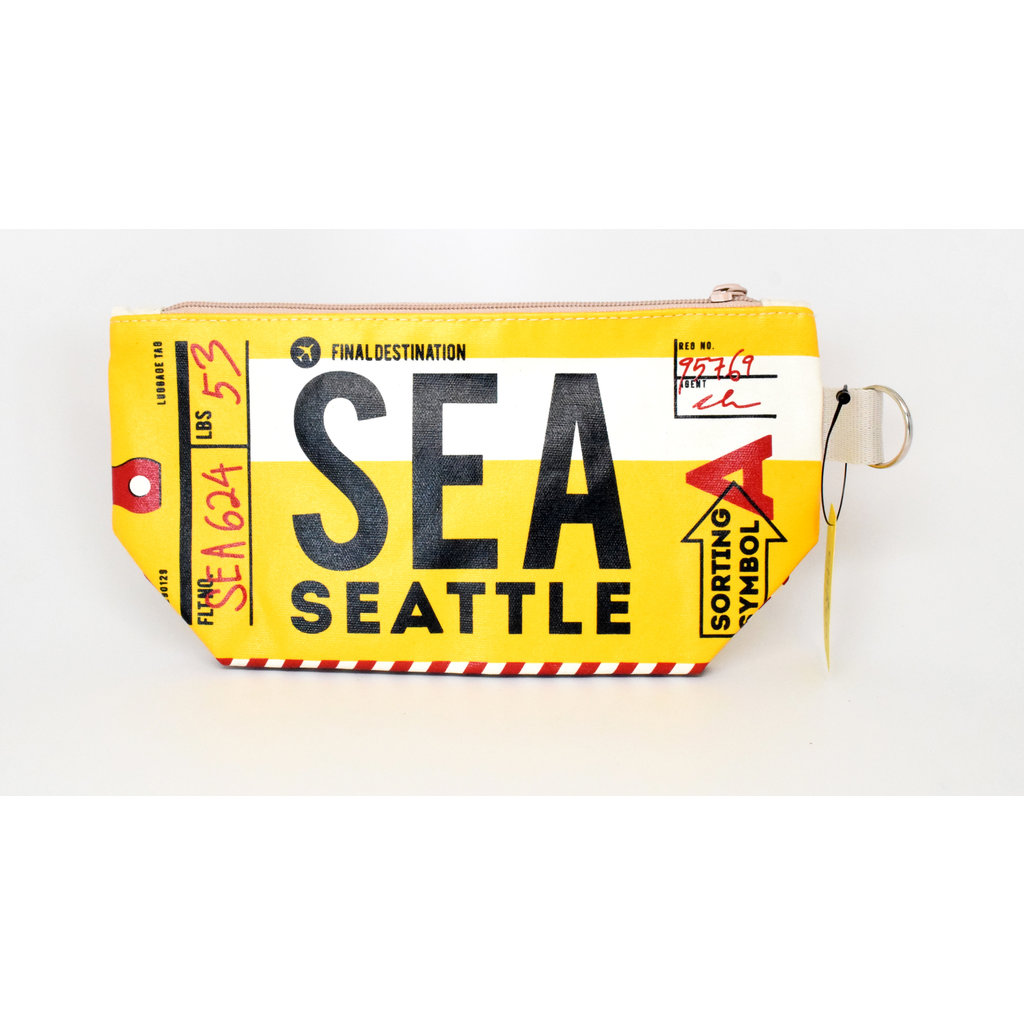 Seattle Luggage Tag Pouch-Yellow