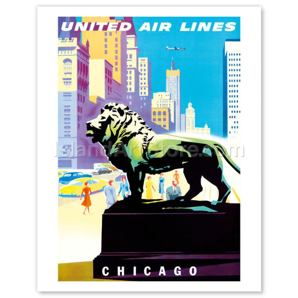 United Airlines Chicago Art Institute Print 9 x 12