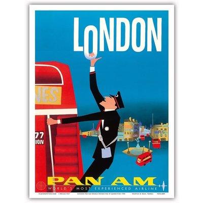 Pan Am London Double Decker 9 x 12 Print