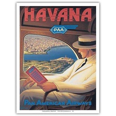 Pan Am Havana Cuba Print 9 x 12
