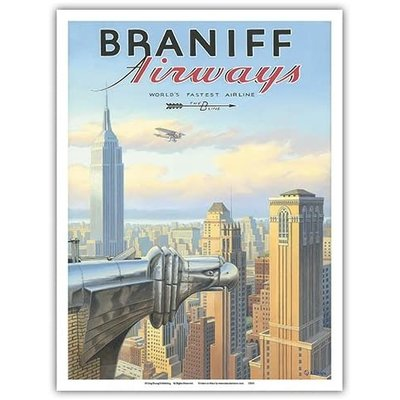 Braniff Airways Chrysler Building NY Print 9 x 12