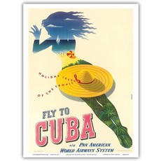 Pan Am Holiday Isles  of theTropics Print 9 x 12