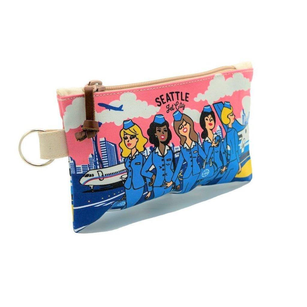 Seattle Stewardess Skyline Pouch-Small