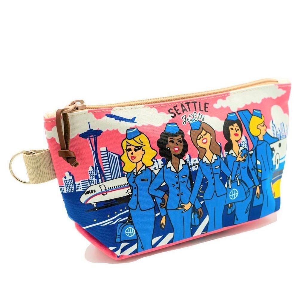 Seattle Stewardess Skyline Pouch-Med