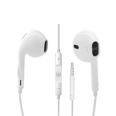 Plane Power Earpods with 3.5 Headphone Jack