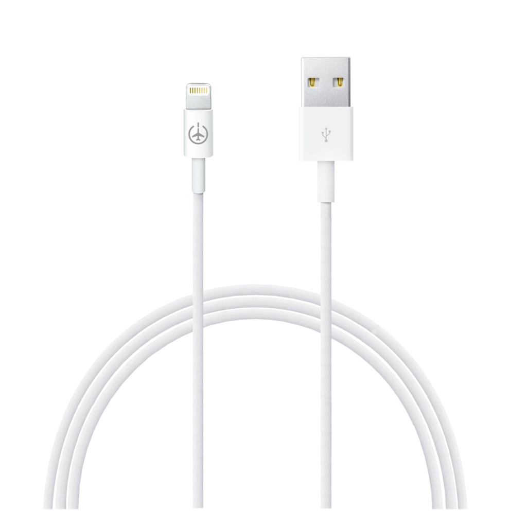 Plane Power Lightning to USB Cable