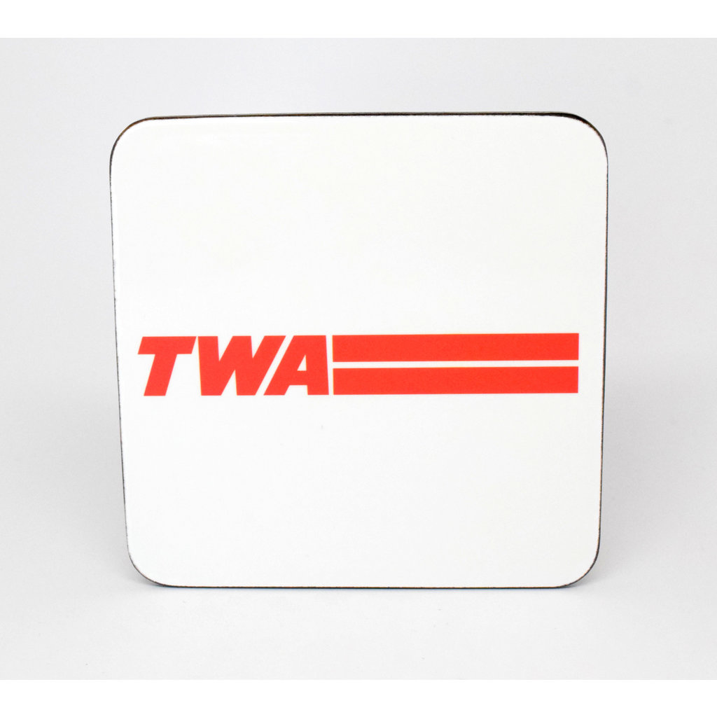 TWA Red Logo Coaster