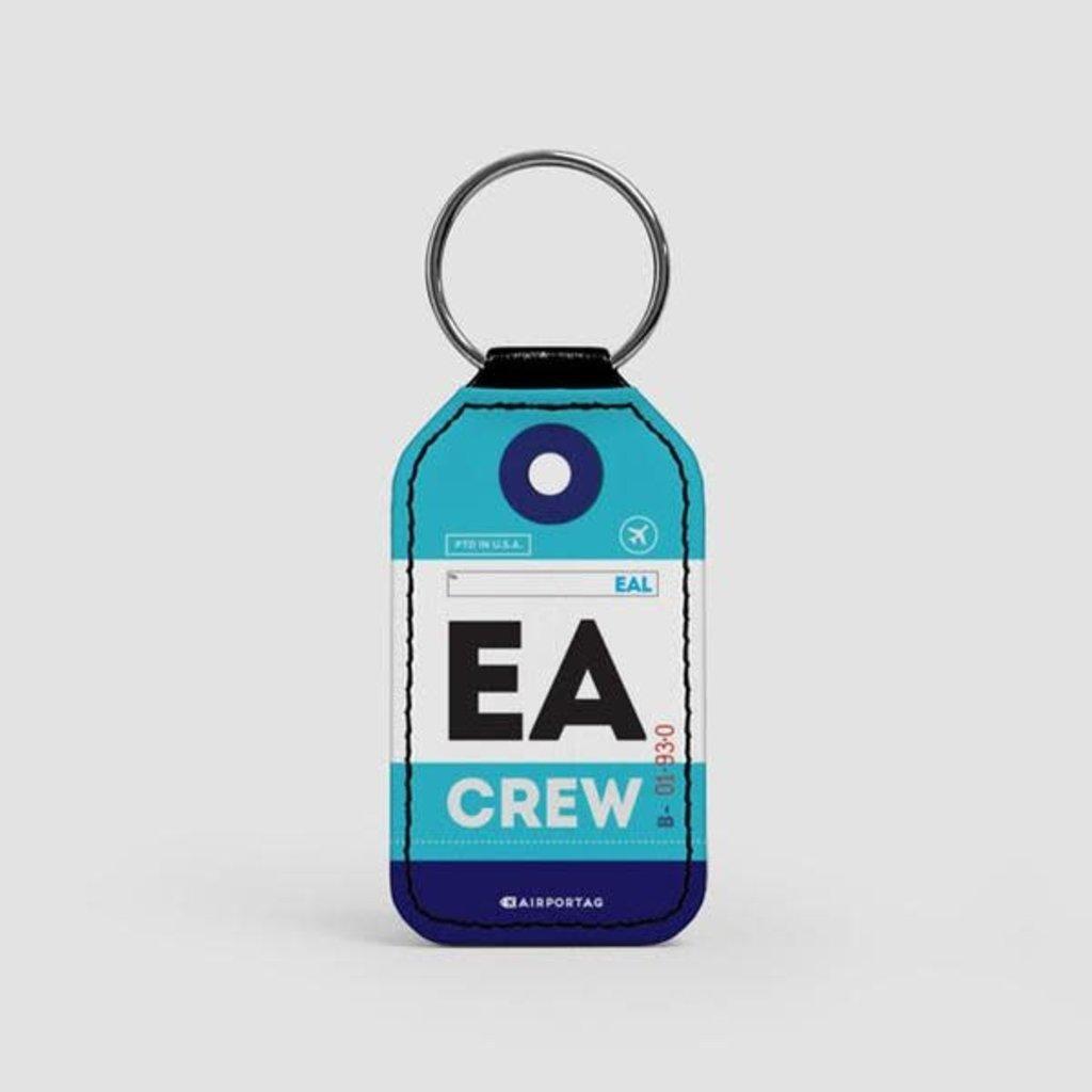 EA CREW Faux Leather Key Chain