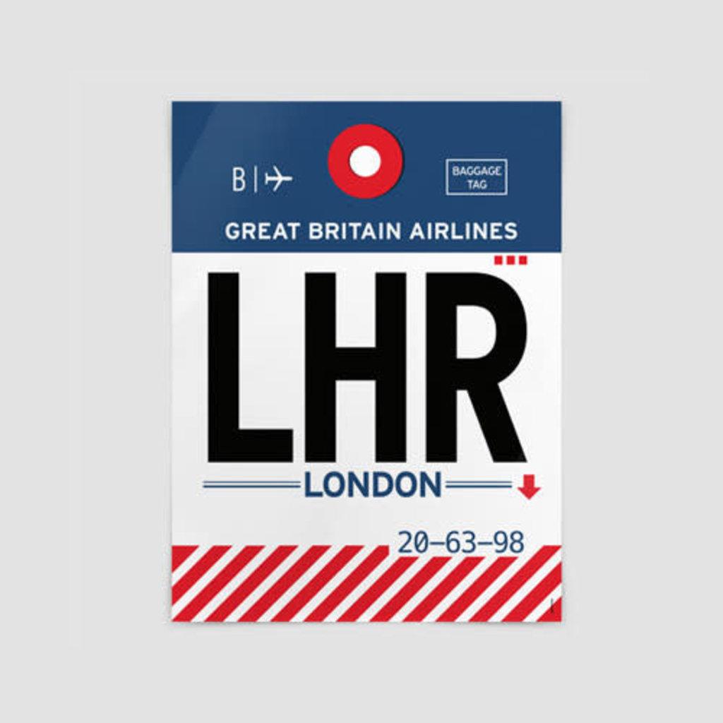 AIRPORTAG LHR Poster
