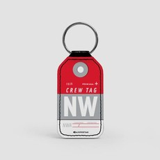 NW CREW Faux Leather Key Chain