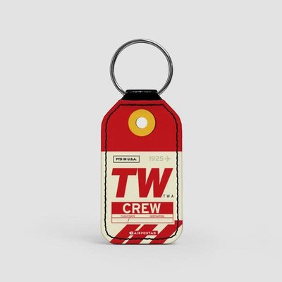 TW CREW Faux Leather Key Chain