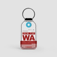 WA CREW Faux Leather Key Chain