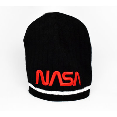 NASA Knit hat-RED NASA LOGO