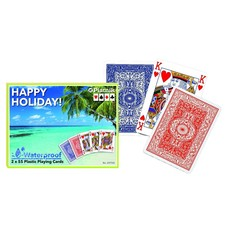 Happy Holidays Waterproof Playing Cards