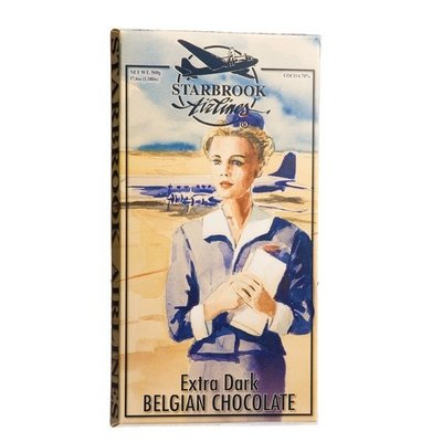 Starbrook Airlines Giant Xtra Dark Chocolate Bar