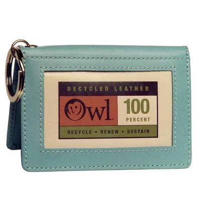 Owl Twofold ID-Recycled Leather Sky Blue