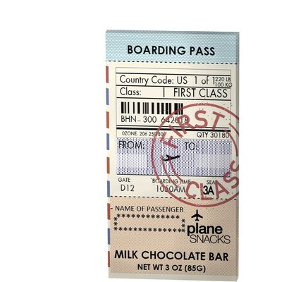 Plane Snacks First Class Milk Chocolate Bar