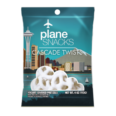 Plane Snacks Cascade Twists