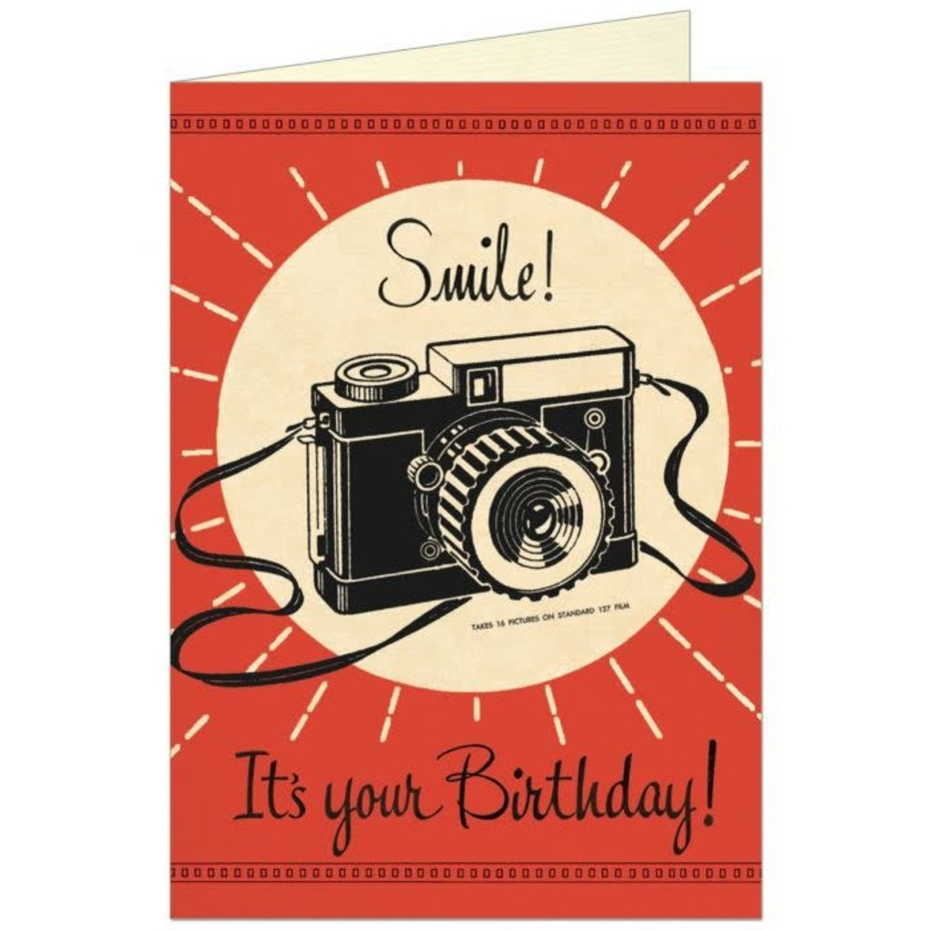 Smile Camera Birthday Card