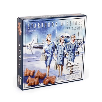 Starbrook Airlines Milk Chocolate Airplanes w/Praline