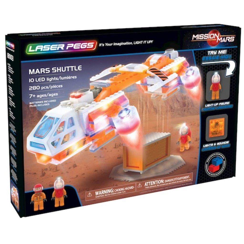 Laser Pegs Mars Shuttle