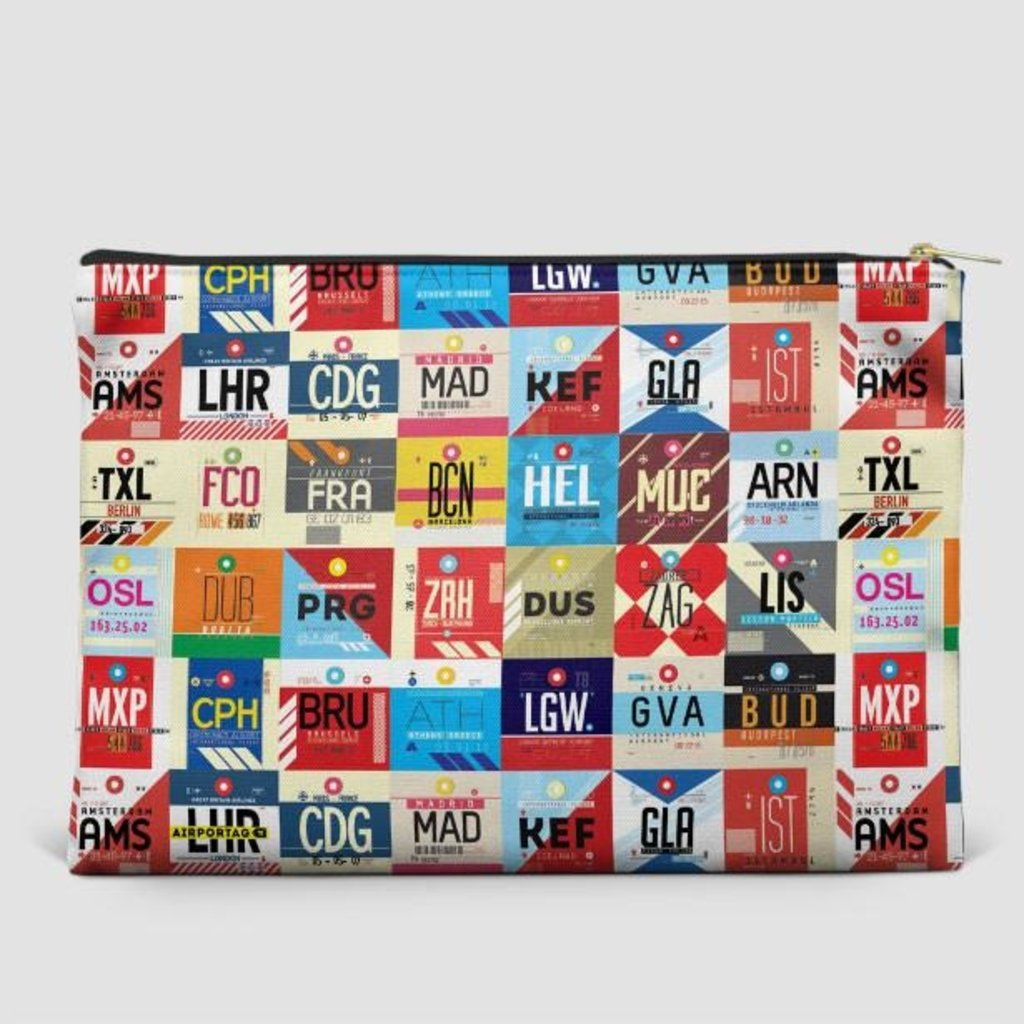 Large Flat Pouch World Airports