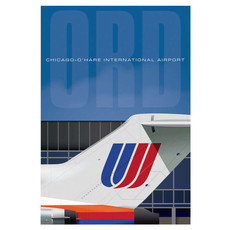 Ord Airport United Tail Poster 14 X 20