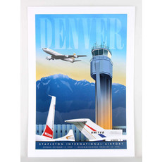 Denver Stapleton Airport Poster 14 X 20