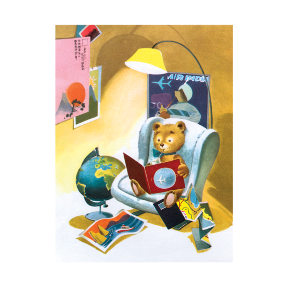 Teddy Bear in Armchair Greeting Card
