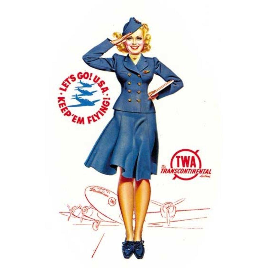 TWA Flight Attendant Greeting Card