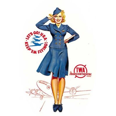 TWA Flight Attendant Greeting Card