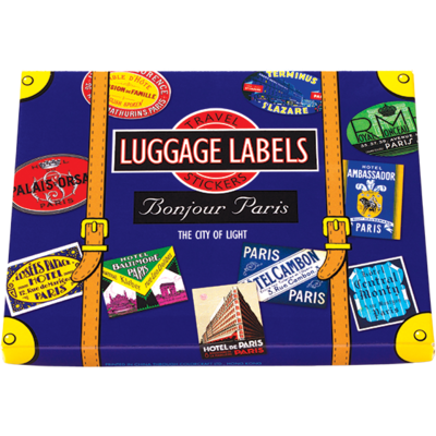 Bonjour Paris  Luggage Labels