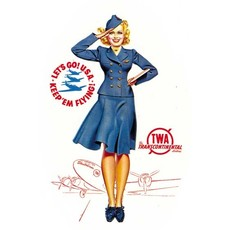 TWA Flight Attendant Poster Print