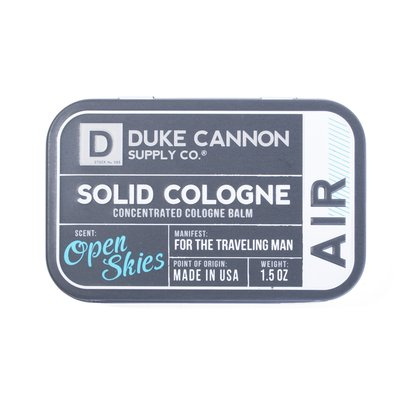 Duke Cannon Solid Cologne for Travel- AIR