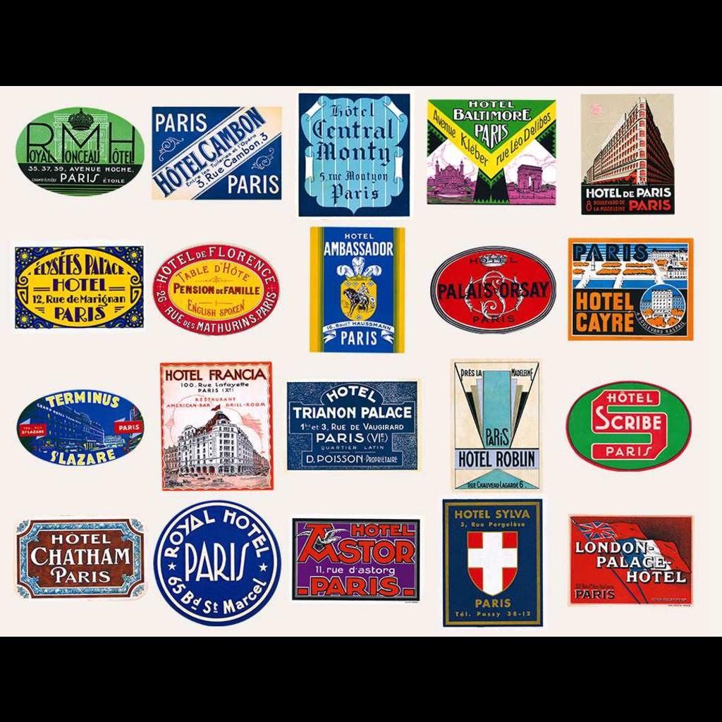 Bonjour Paris  Luggage Labels